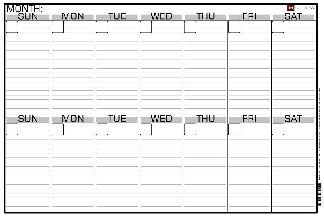 Two Week Calendar Printable Northfourthwallco3abry