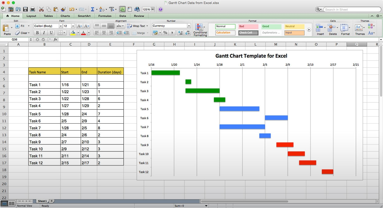 Use This Free Gantt Chart Excel Template 89uj