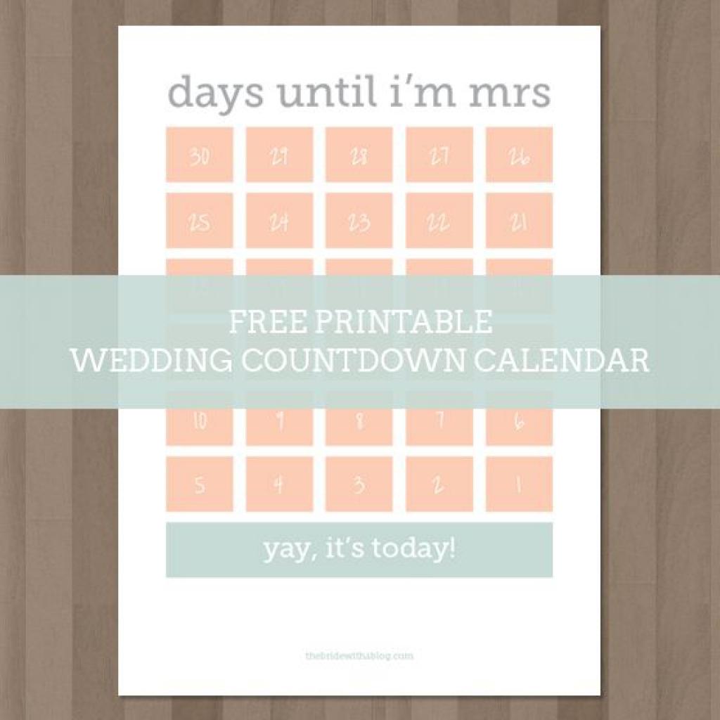 Wedding Calendar Printable Printable Calendar Templates 2018