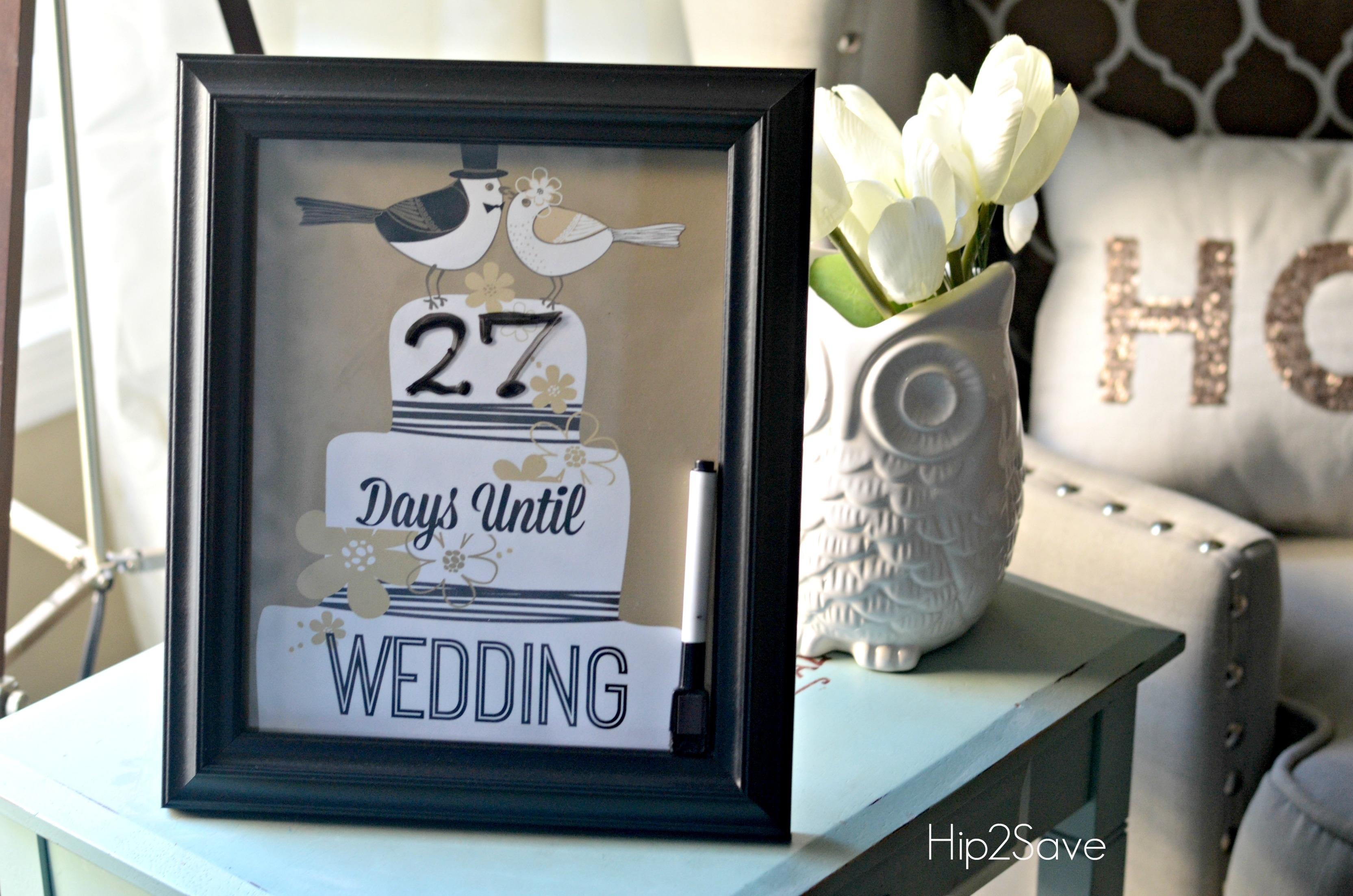 Wedding Countdown Calendar Printable Printable Calendar