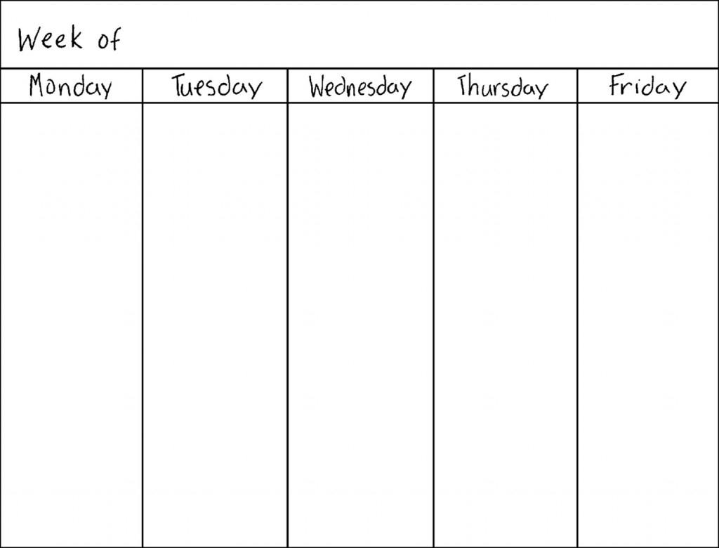 Weekly Blank Calendar Fieldstationco3abry