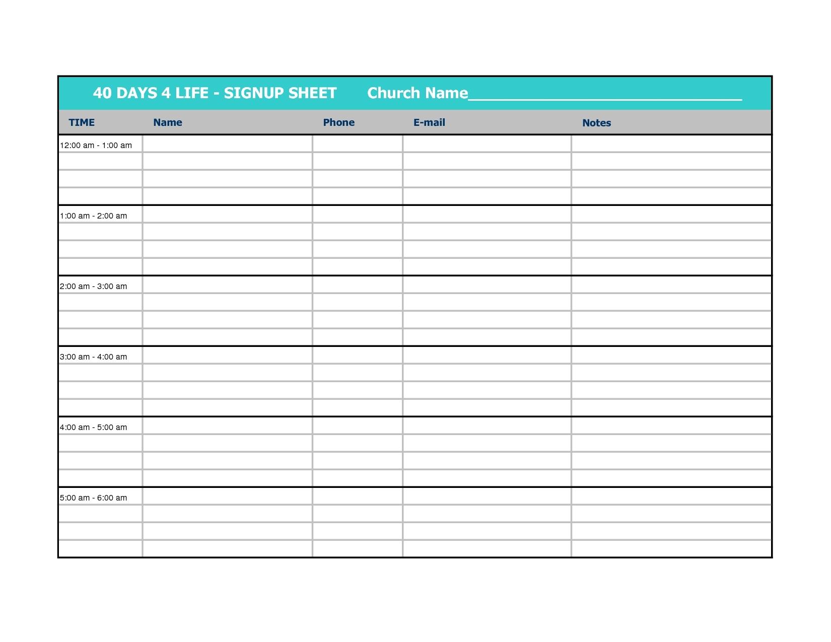 Weekly Calendar Sign Up Sheet Calendar Template 2017 Calendar 20183abry