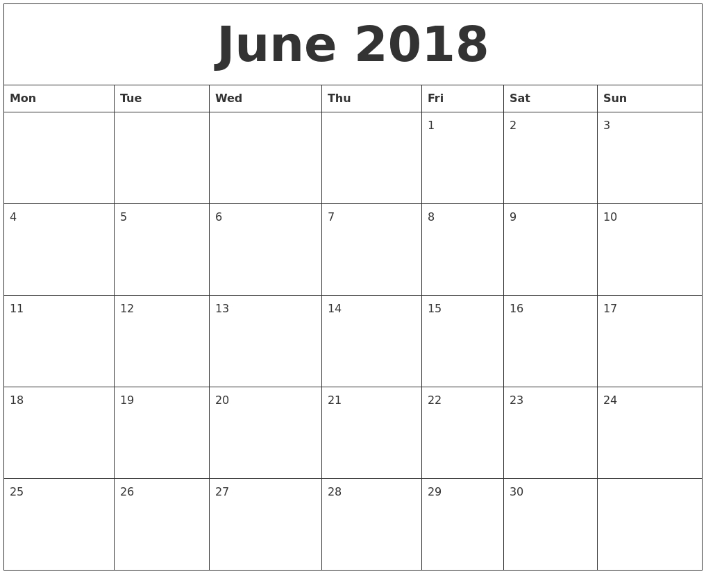 2018 Editable Calendar Template3abry