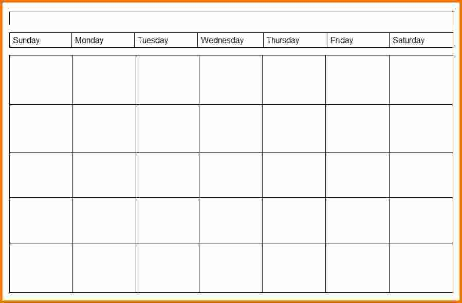 4 Weekly Calendar Template Expense Report