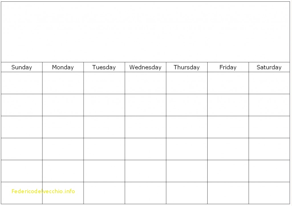 Best Of Monthly And Weekly Calendar Template Free Template