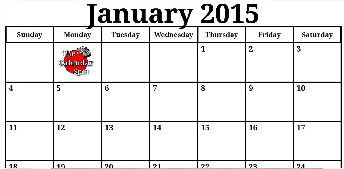 Best Photos Of 2015 Monthly Calendar Printable Pdf Free