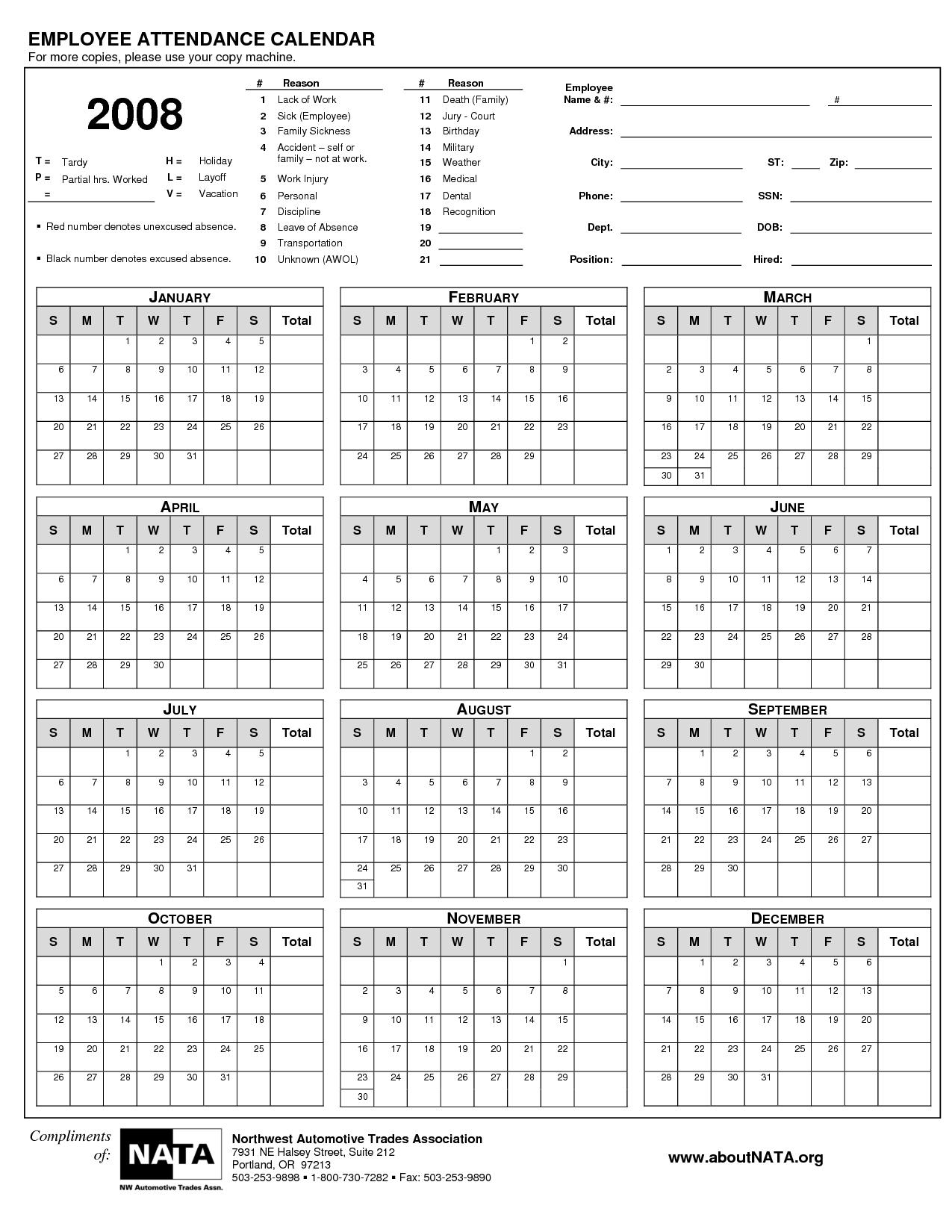 Best Photos Of Free Printable Attendance Calendar 2013 School 89uj