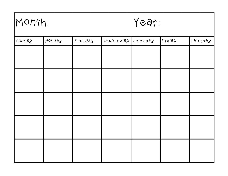 Blank Calendar Pages Blank Calendar Printable Printable Calendar  Xjb