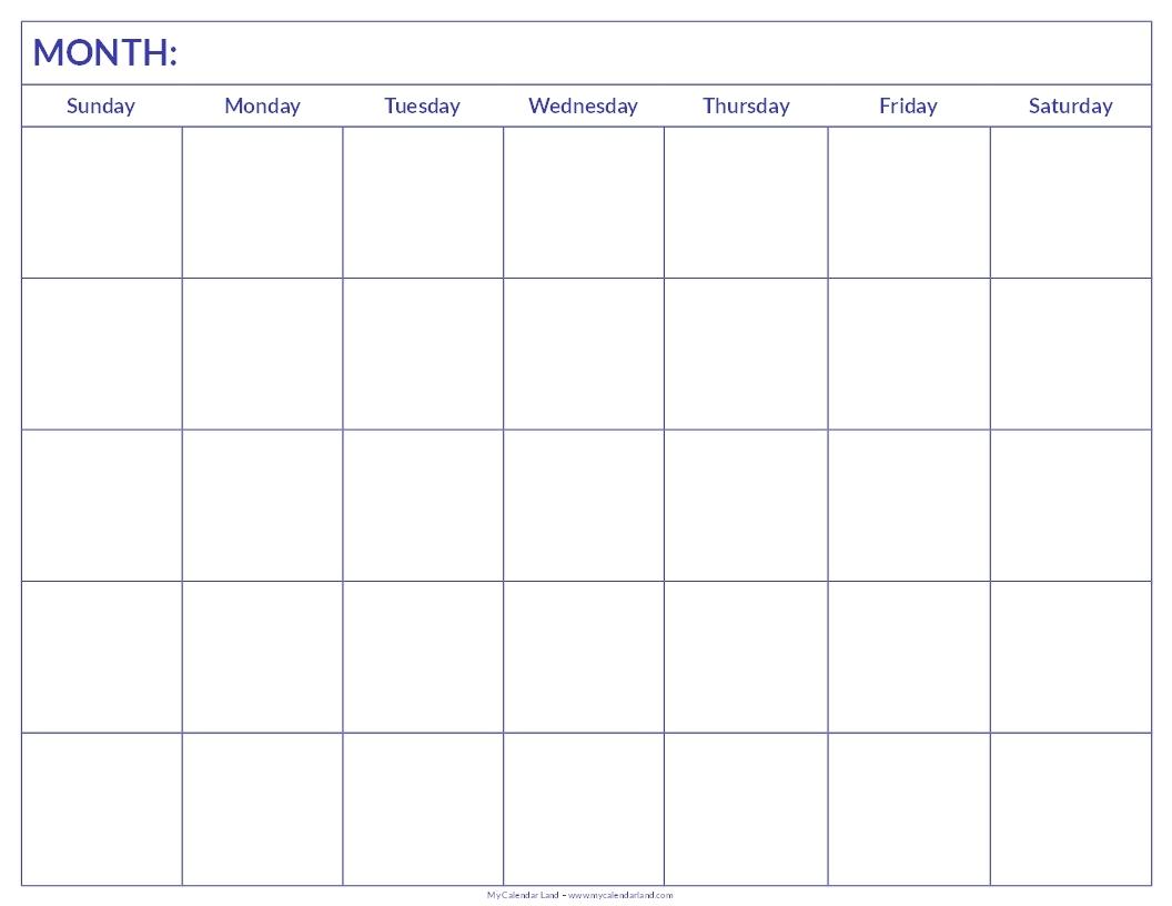 Blank Calendar Print Outs Printable Calendar Template Printable 89uj