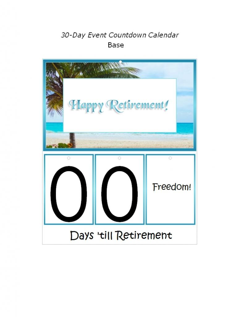 Countdown Retirement Calendar Free Calendar Template3abry
