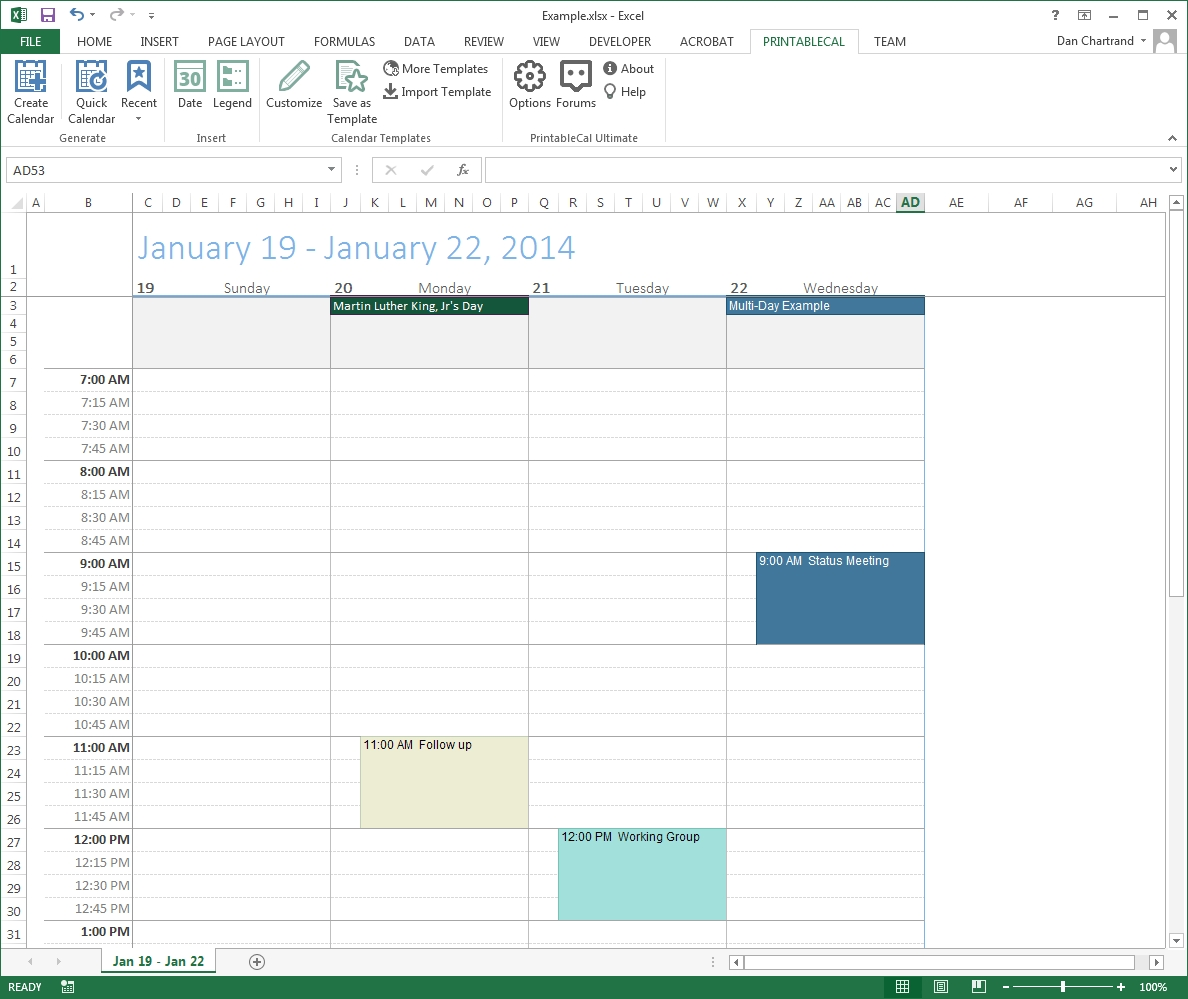 Customize And Print Calendar Templates In Excel And Word3abry