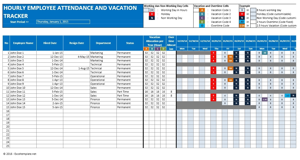 Excel Spreadsheet For Vacation Tracking Onlyagame3abry
