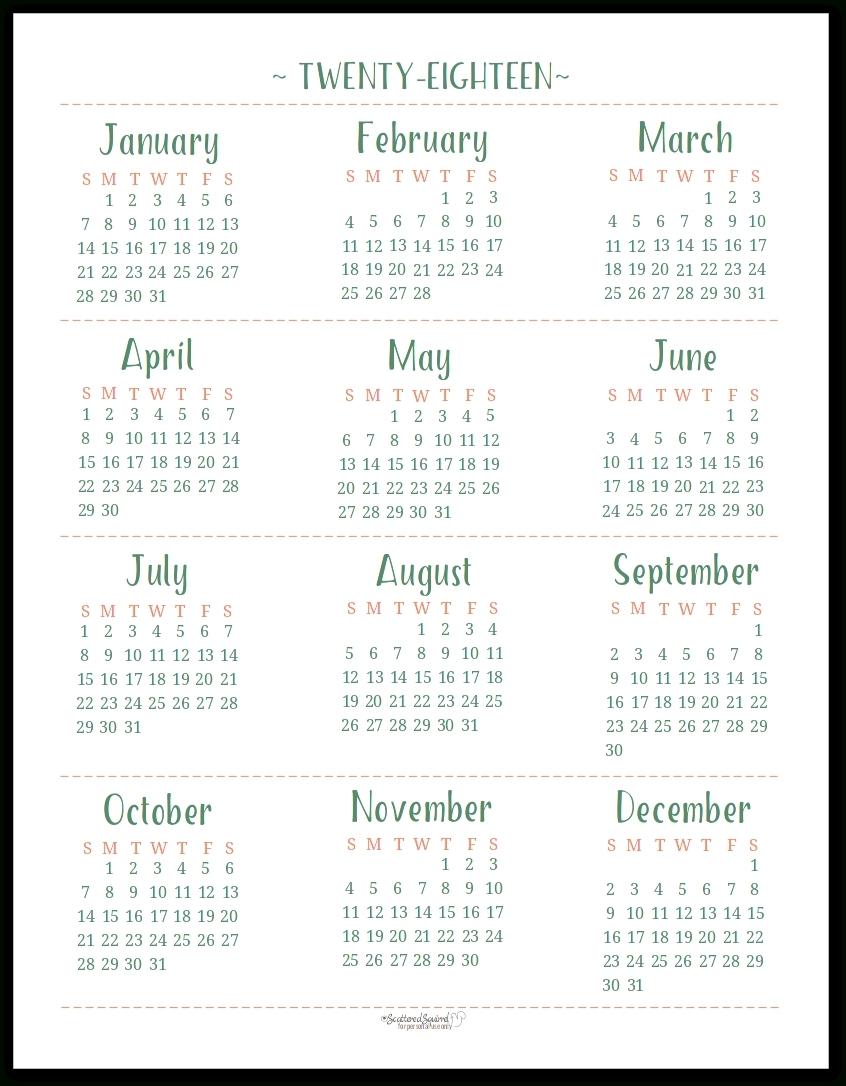Free Printable Calendar 2018 Year Printable Calendar Templates 20183abry