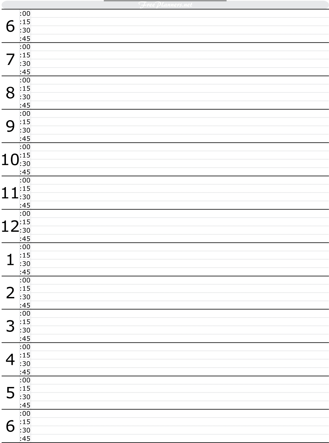 Free Printable Hourly Daily Planner Tools To Get This Under  Xjb