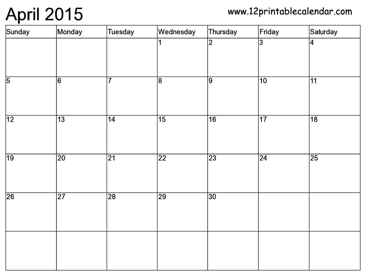 Free Printable Monthly Calendar 2015 With Holidays Printable 89uj