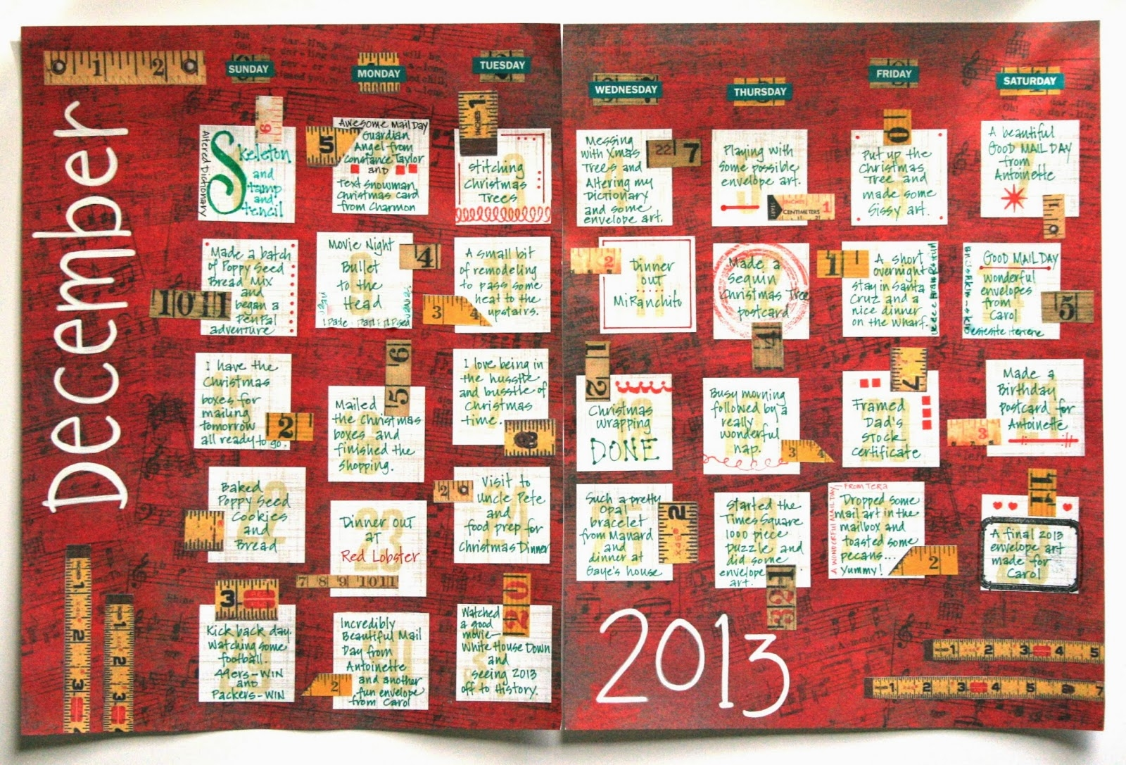 Freezeframe Art Journal Calendar 2013 89uj