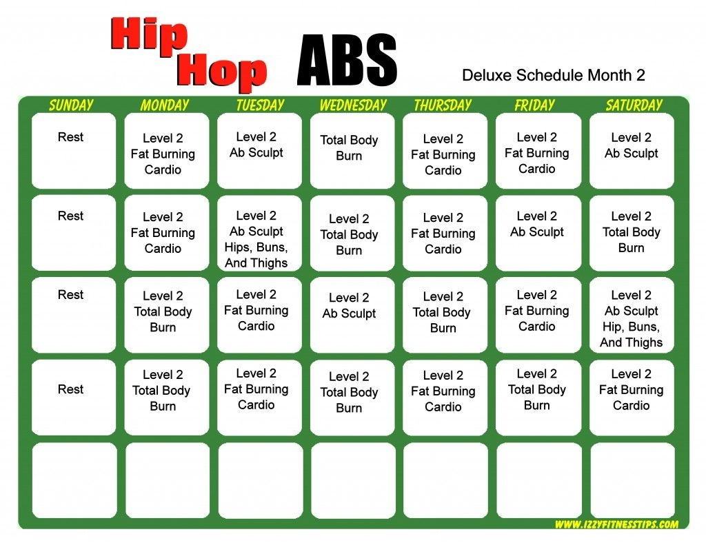 Hip Hop Abs Schedule Deluxe Month 2 Projects To Try Pinterest  Xjb