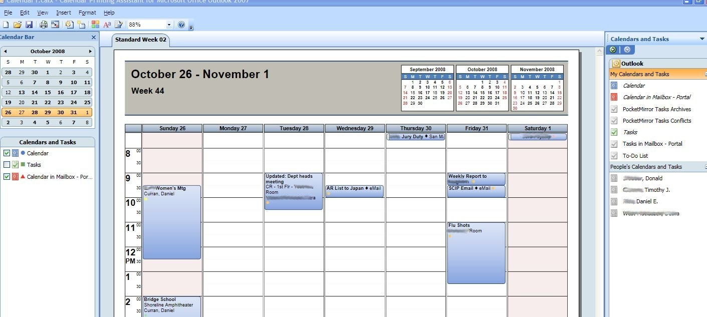 How To Print Multiple Outlook Calendars And Tasks In Overlay Mode