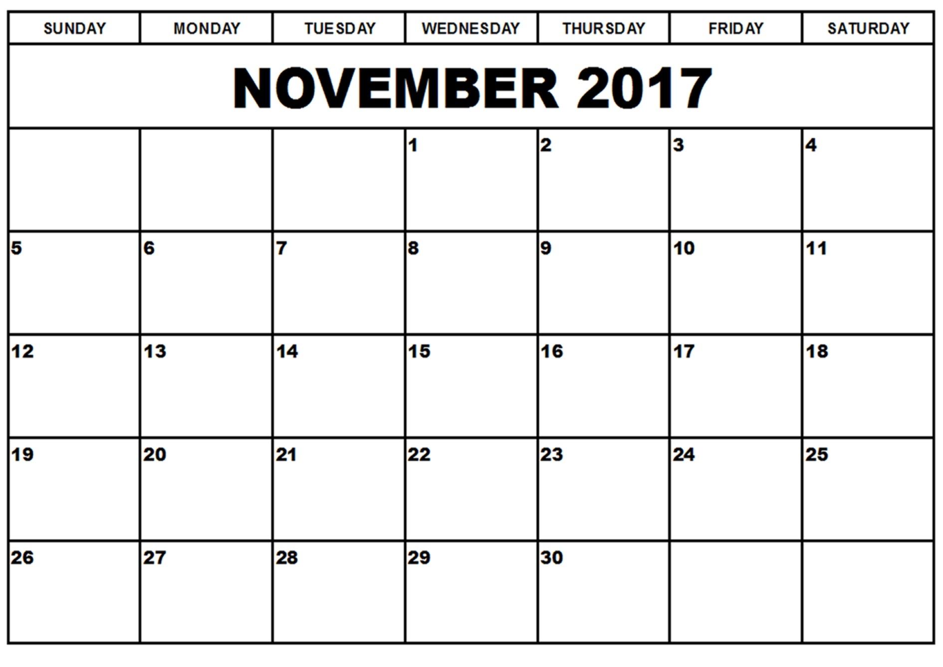 November 2017 Printable Calendar Printable Calendar Templates 89uj