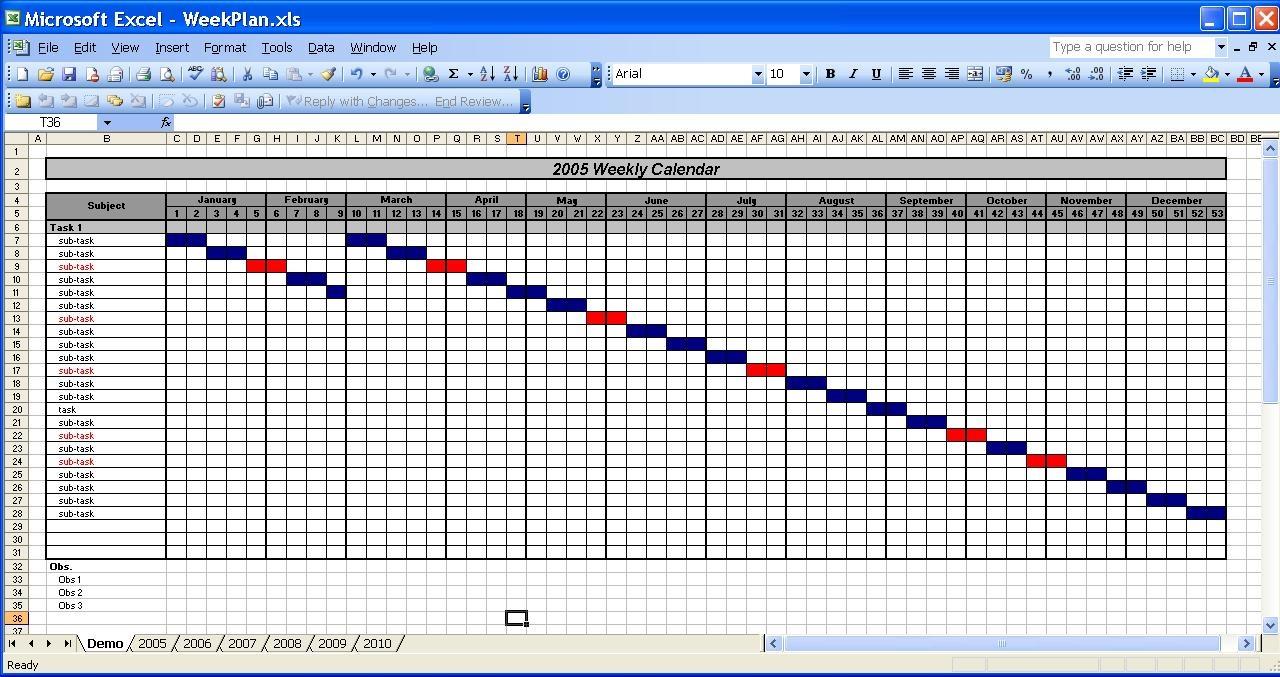 Officehelp Template 00031 Calendar Templates 2005 2010  Xjb