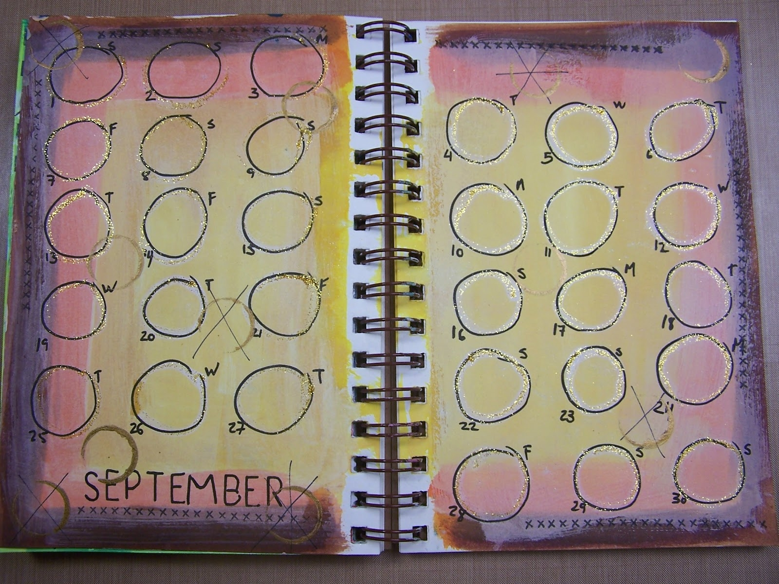 Tatteredroses41 Art Journal Calendar September 89uj