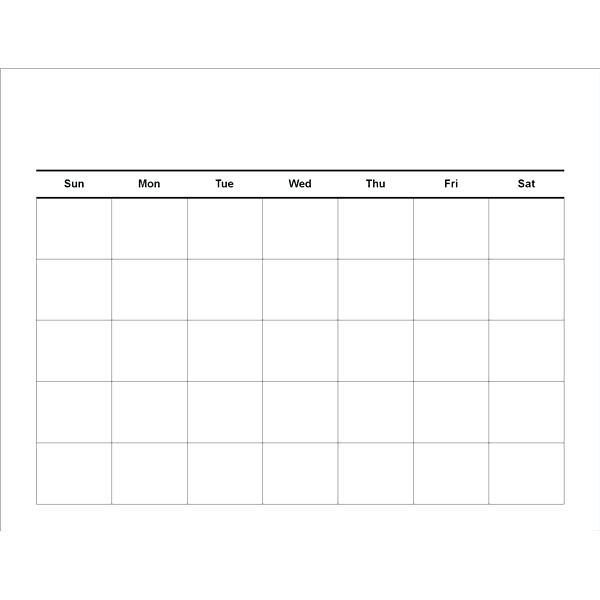 Template 4 Week Calendar Template Blank Excel 4 Week Calendar Template
