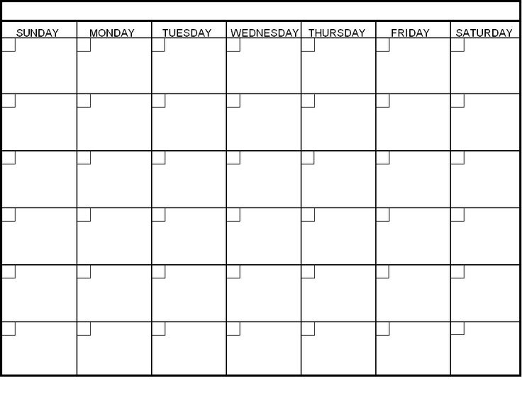 58 Best Blank Calendar Images On Pinterest Blank Monthly Calendar