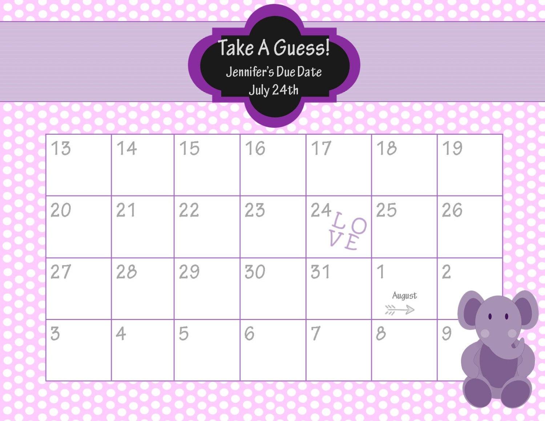 Ba Calendar Due Date Calendar 2018 Printable3abry