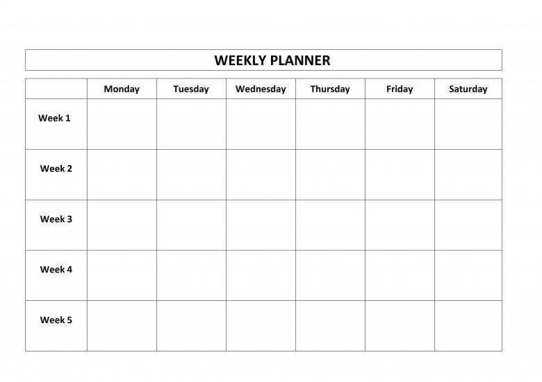 Blank 4 Week Calendar Savebtsaco