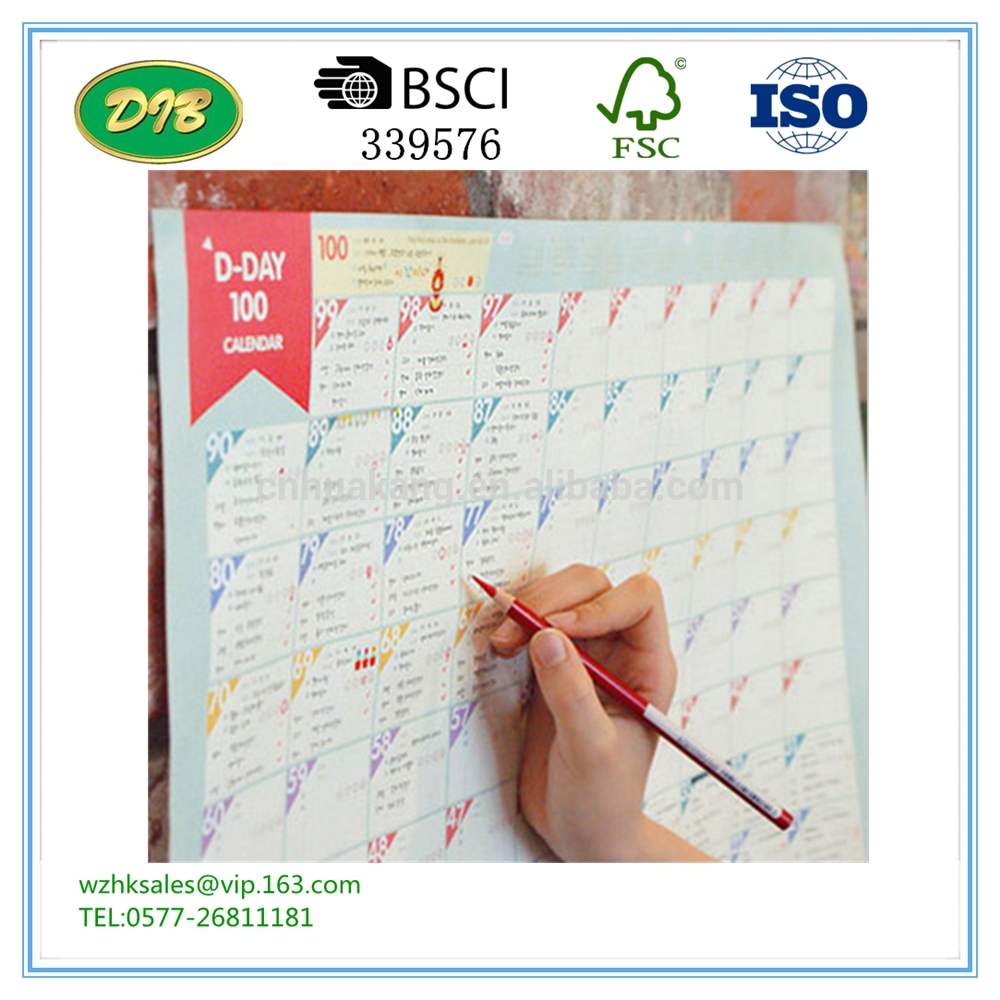 Countdown Paper Calendar Countdown Paper Calendar Suppliers And  Xjb