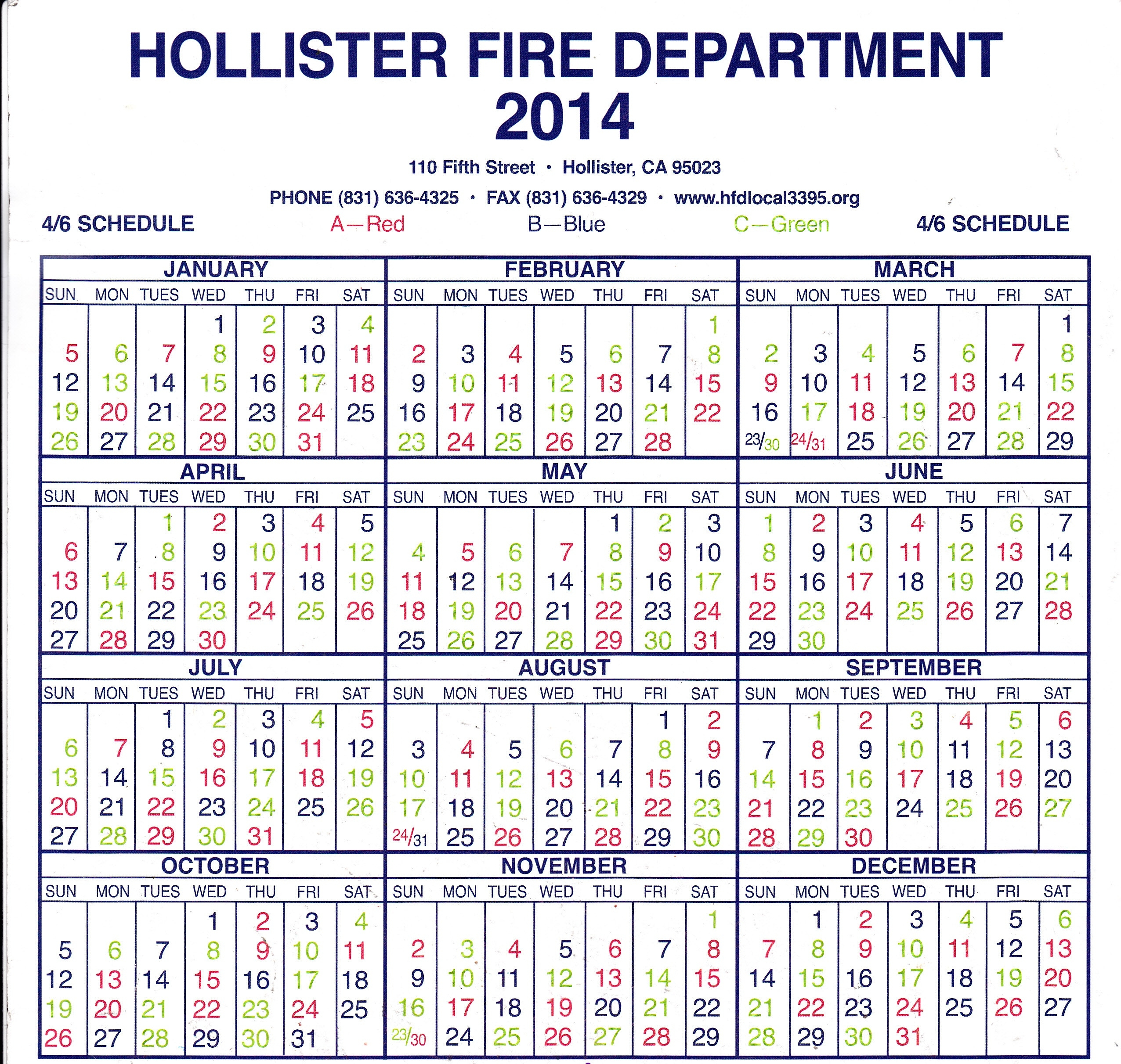 Fire Department Shift Calendar Necessary Pictures Shiftcal Gopages