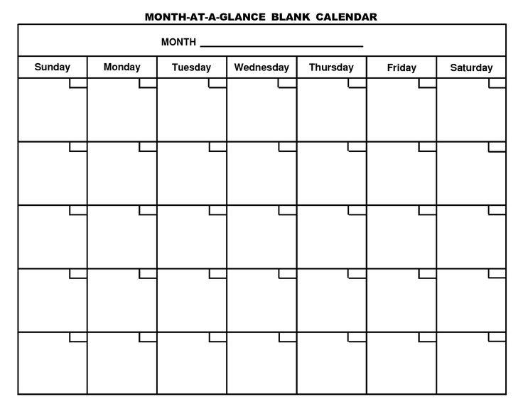 Free Fill In Calendar Template Dawaydabrowaco