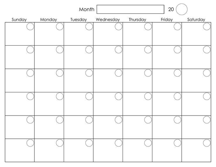 Free Printable Blank Calendar Free Blank Calendar Put It In A Frame