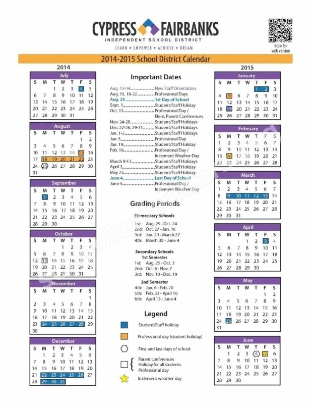 Fresno School District Calendar 2018 Calendar Template