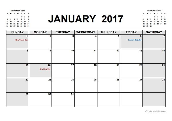 January 2018 Calendar Waterproof Enderrealtyparkco