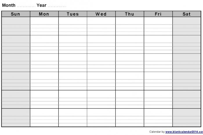 Lined Monthly Calendar Free Printable Calendar Printable Template