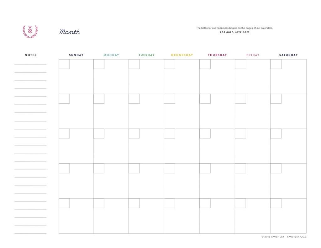 Lined Monthly Calendar Templates Calendar 2018 Printable3abry