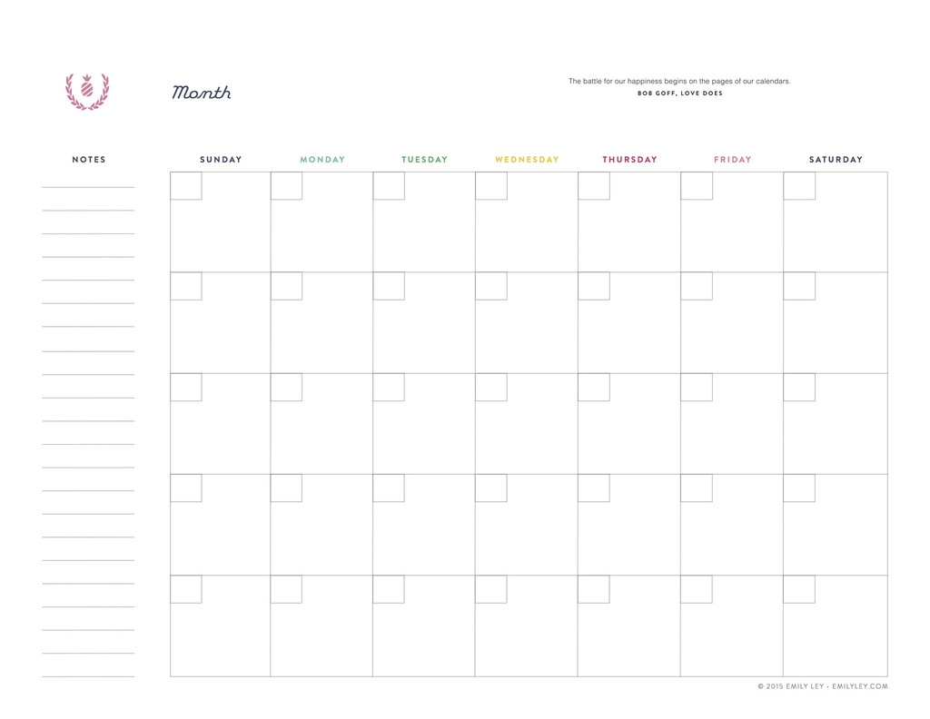 Lined Monthly Calendar Templates Calendar 2018 Printable