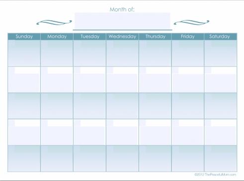 Monthly Calendar Editable Free Editable Calendar The Peaceful Mom