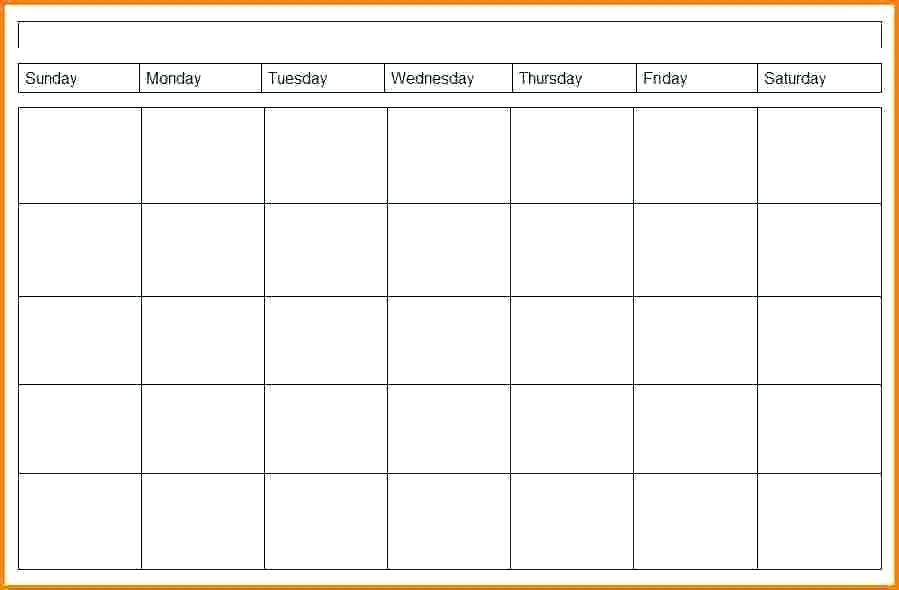 Printable 4 Week Calendar Printable Template Free 4 Week Calendar