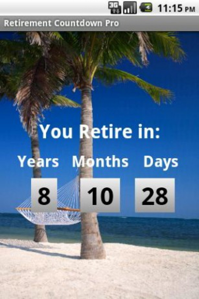 Retirement Countdown Android Apps On Google Play Retirement