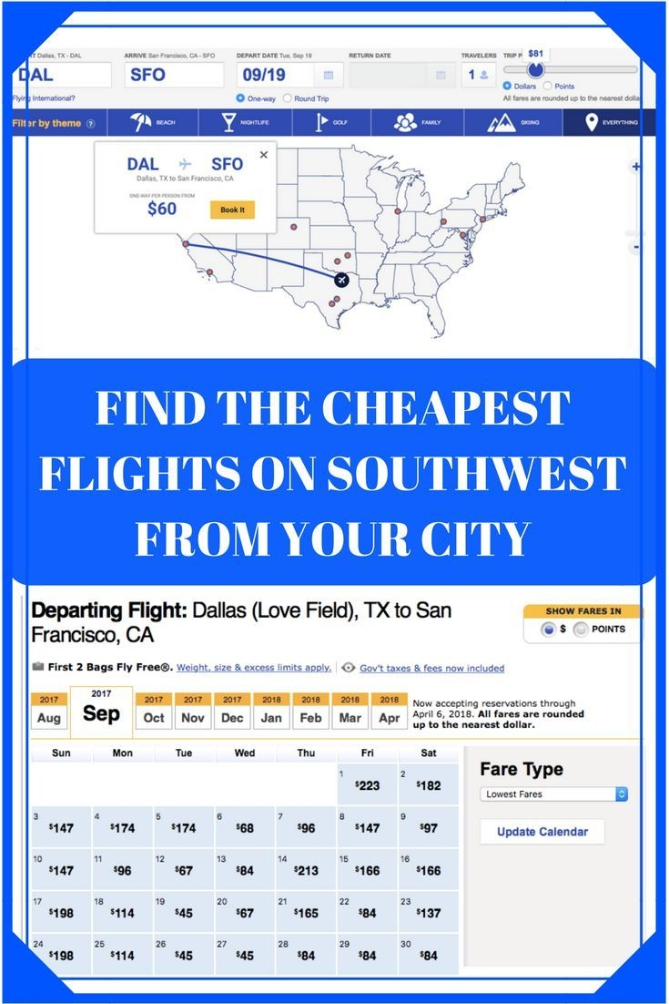 Southwest Low Fare Calendar How To Find Cheap Flights On Southwest