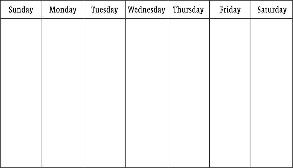 Weekly Printable Calendar Google Search Foto1 Pinterest