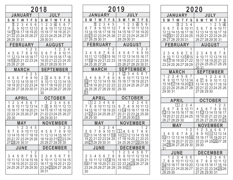 5 Year Calendar Template Boatjeremyeatonco