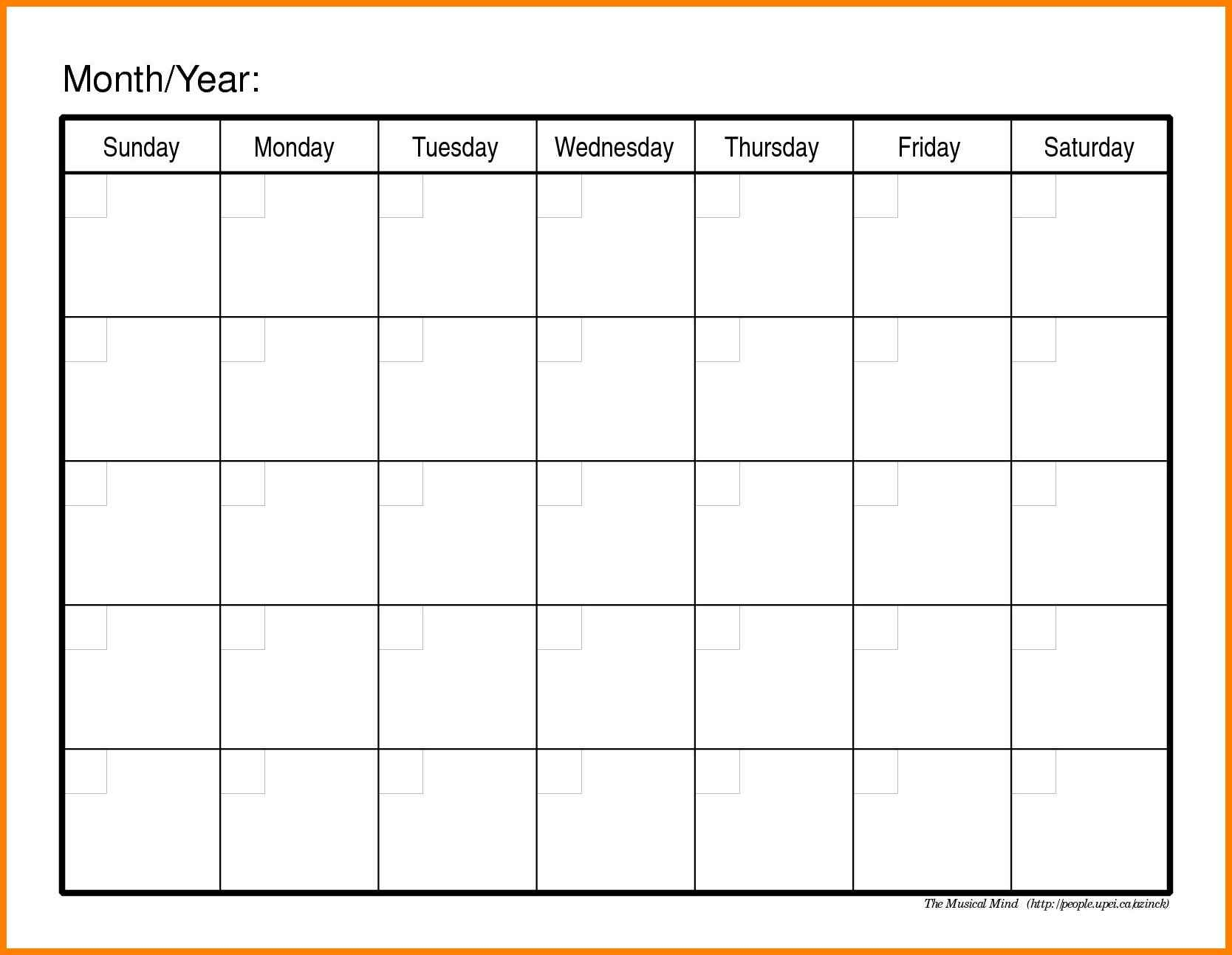 7 Fill In Calendar Template Points Of Origins