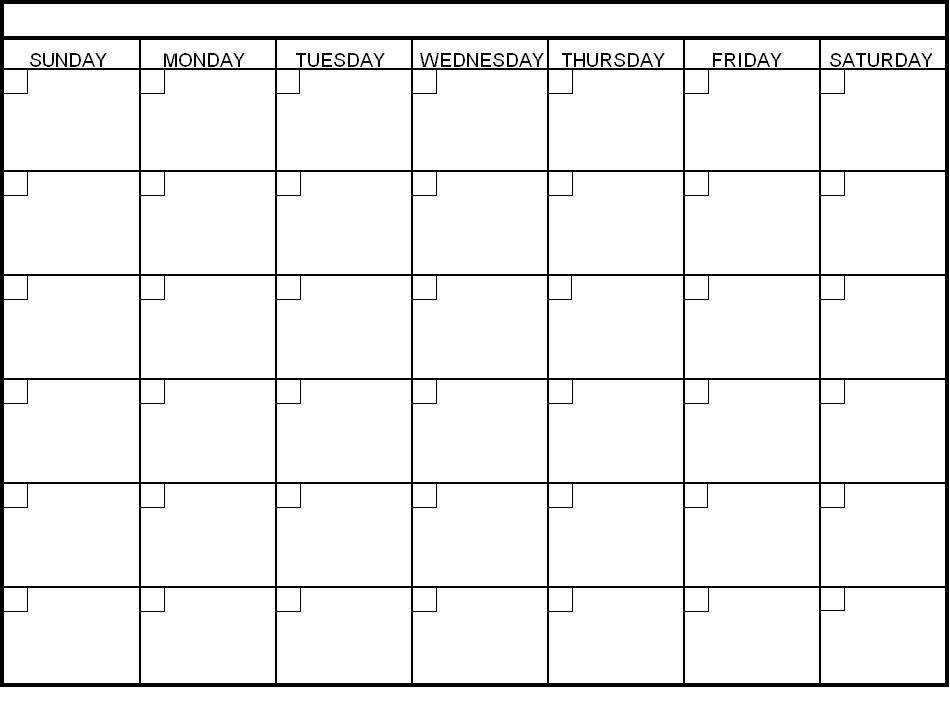 Blank Printable Calendar Maggilocustdesignco