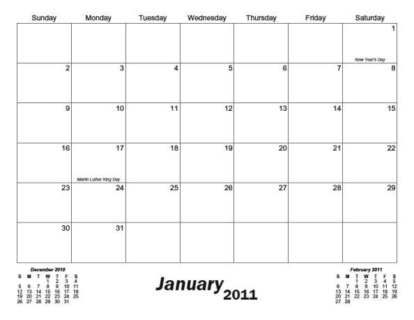 Classic Monthly Printable Calendar Calendarsquick