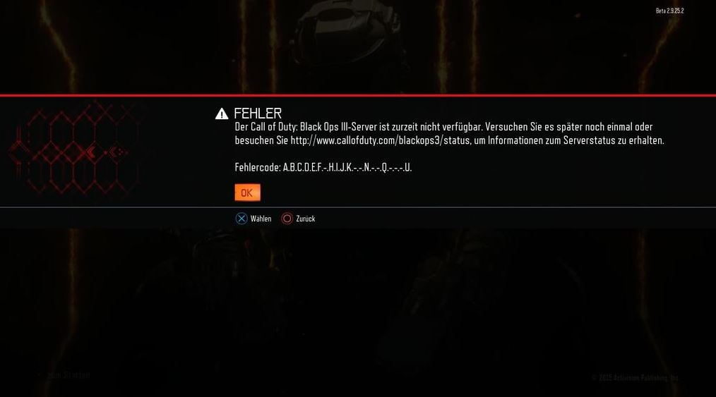 Final Solution Call Of Duty Black Ops 3 Error Code Abcdef