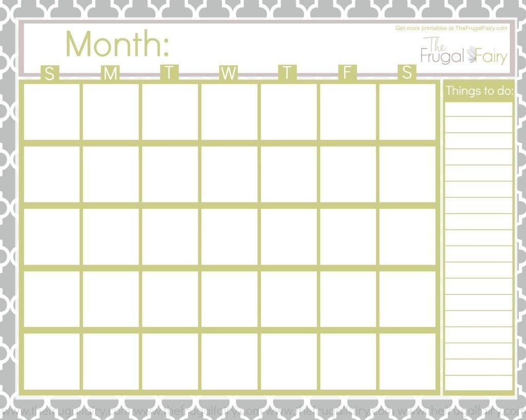 Free Blank Printable Calendar Printables Pinterest Printable3abry