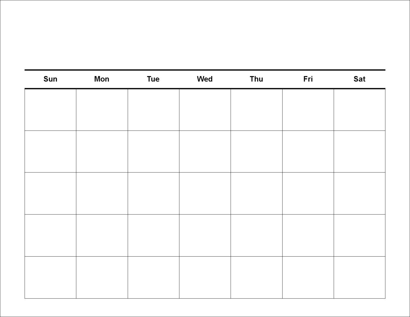 Free Printable Blank Calendar Template Pdf Word Picturesque Monthly3abry